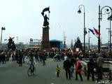 Площадь борцов за власть советов и одноименный памятник. Памятники и музеи. Фотографии Владивостока